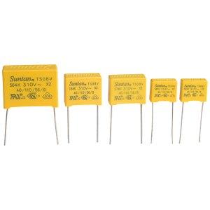 Suntan TS08V0A9104KAB0E0R 0.1uF ±10% 310VAC X2 Polyprop Film Capacitor