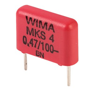 Wima MKS4D034703C00KS 470nF ±10% 100V 10mm Pitch Polyester Capacitor