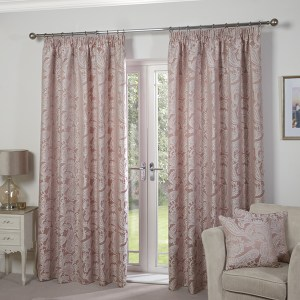 """Duchess Jacquard Lined Tape Header 46"""" Curtains"""