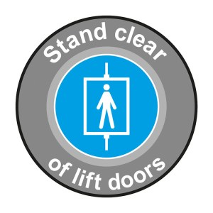 Stand Clear of Lift Doors Graphic Floor Marker