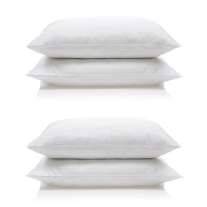 Downland Soft To Touch Satin Stripe Anti Bacterial Pillow (4 Pack)