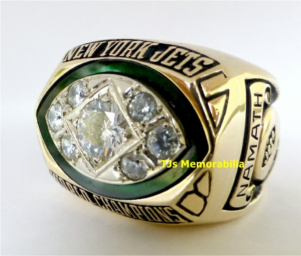 1968 NEW YORK NY JETS SUPER BOWL III CHAMPIONSHIP RING