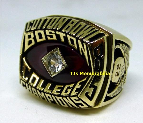 1985 BOSTON COLLEGE EAGLES COTTON BOWL CHAMPIONSHIP RING