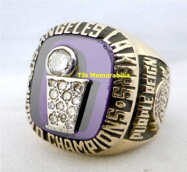 1985 LOS ANGELES LAKERS NBA CHAMPIONSHIP RING