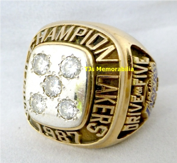 1987 LOS ANGLES LA LAKERS NBA CHAMPIONSHIP RING