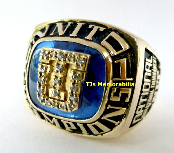 2001 TULSA GOLDEN HURRICANE BASKETBALL NIT CHAMPIONSHIP RING