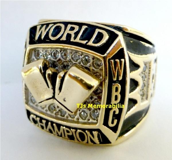 2006 RICARDO MAYORGA 2 WEIGHT WBA & WBC BOXING CHAMPION CHAMPIONSHIP RING