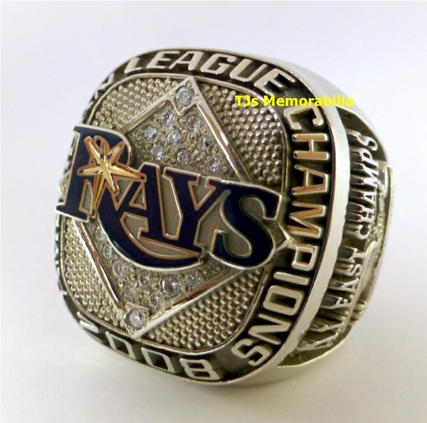 2008 TAMPA BAY RAYS AMERICAN LEAGUE CHAMPIONSHIP RING