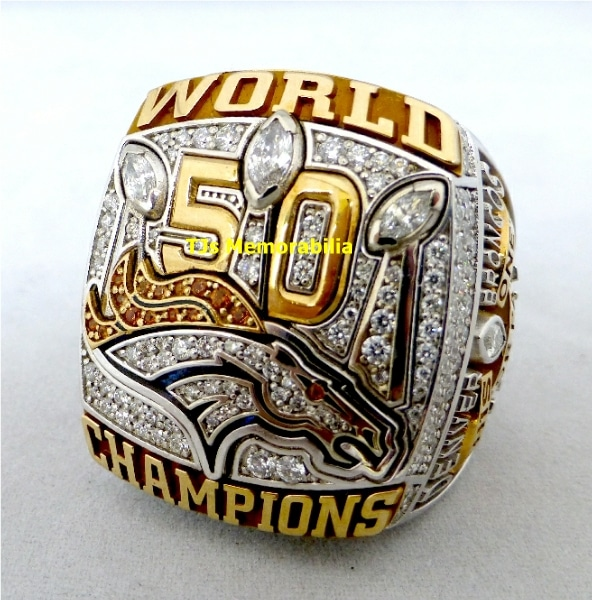 2015 DENVER BRONCOS SUPER BOWL 50 CHAMPIONSHIP RING
