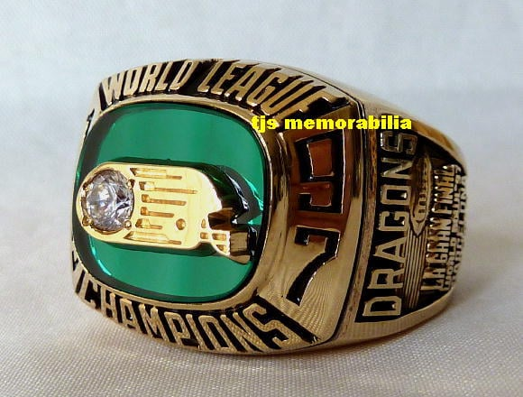 1997 BARCELONA DRAGONS NFL EUROPE WORLD LEAGUE CHAMPIONSHIP RING