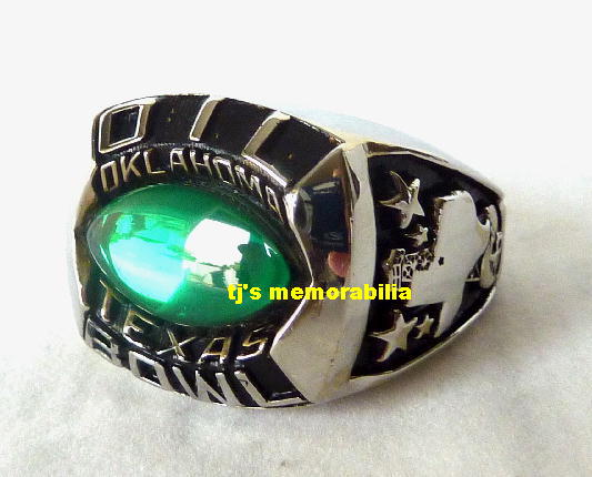 CIRCA 2000 s TEXAS OKLAHOMA OIL BOWL COMMEMORATIVE CHAMPIONSHIP RING