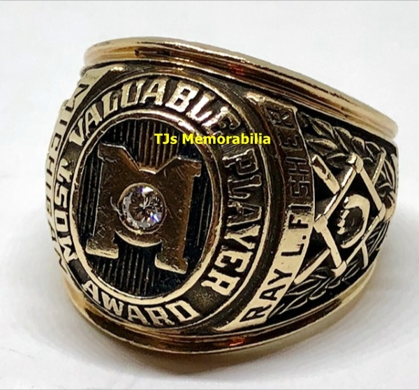 1978 MICHIGAN WOLVERINES MVP STEVE HOWE BASEBALL CHAMPIONSHIP RING