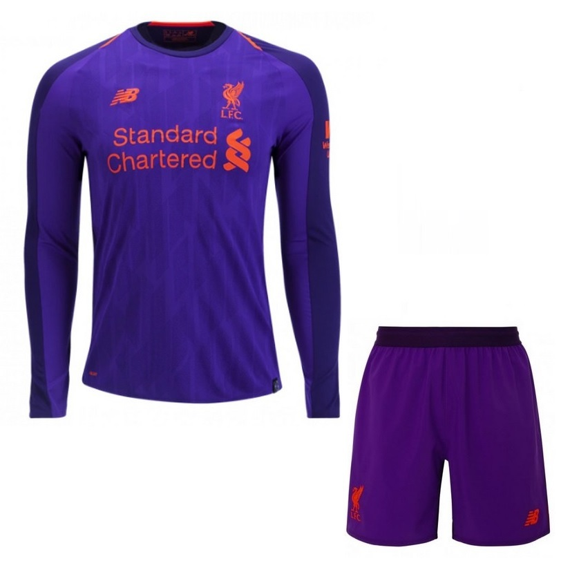 separation shoes 42c19 7df24 2018-2019 Liverpool Away Long Sleeve Shirt - Buy best