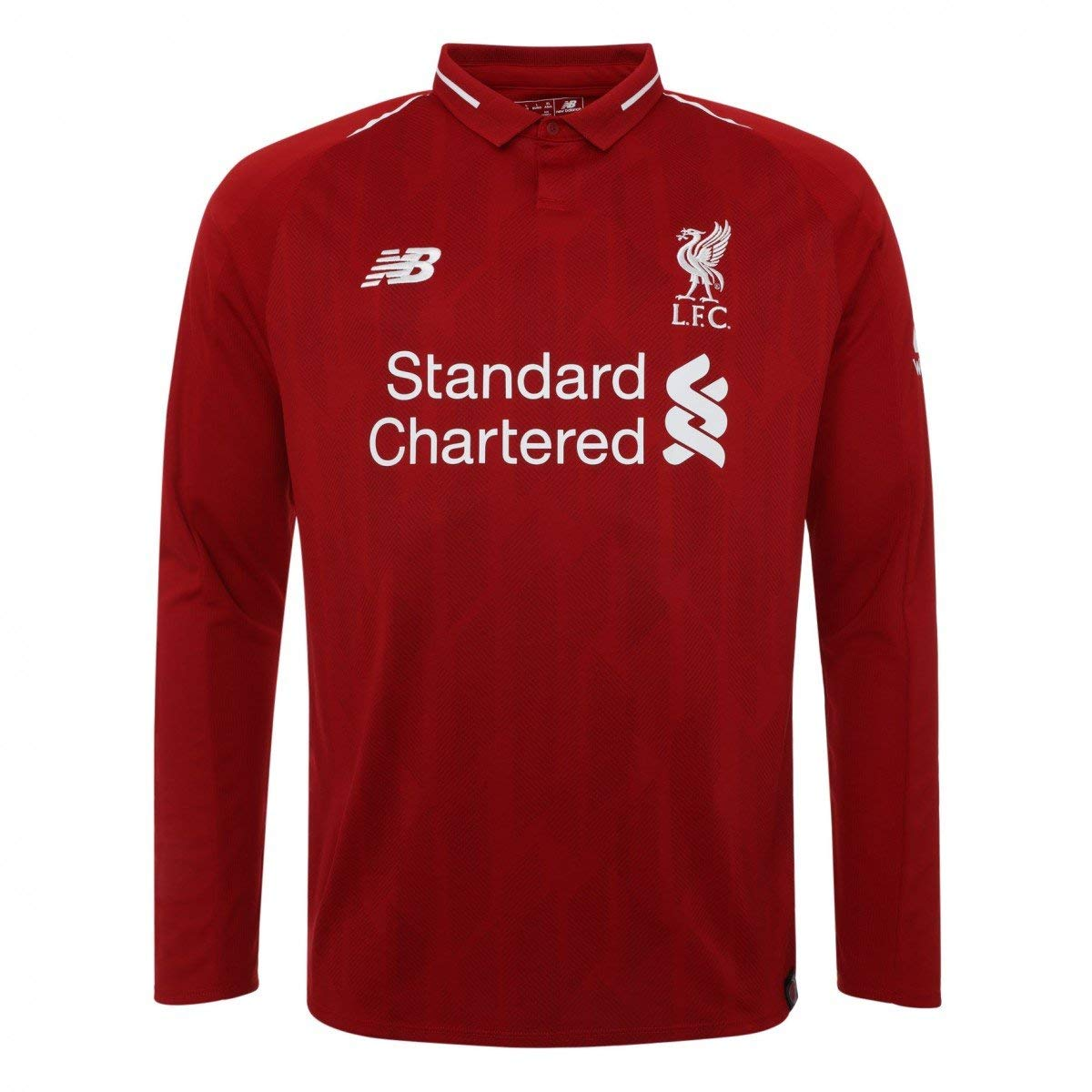 new arrival 431f8 9d48c 2018-2019 Liverpool Home Long Sleeve Shirt - Buy best