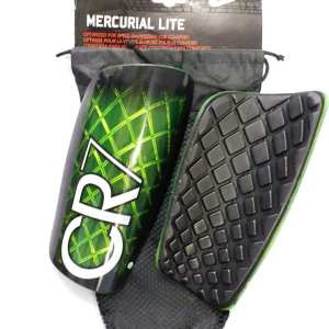 CR7 green and black Shin Guards