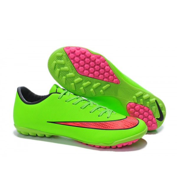 timeless design bd412 9089e LATEST 2014 WORLD CUP NIKE MERCURIAL VICTORY TF X FOOTBALL BOOTS GREEN PINK  - Buy best
