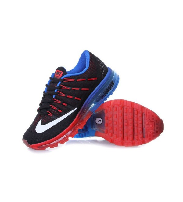 the latest 47a80 ca042 CHEAP AIR MAX 2016 LEATHER BLACK RED BLUE