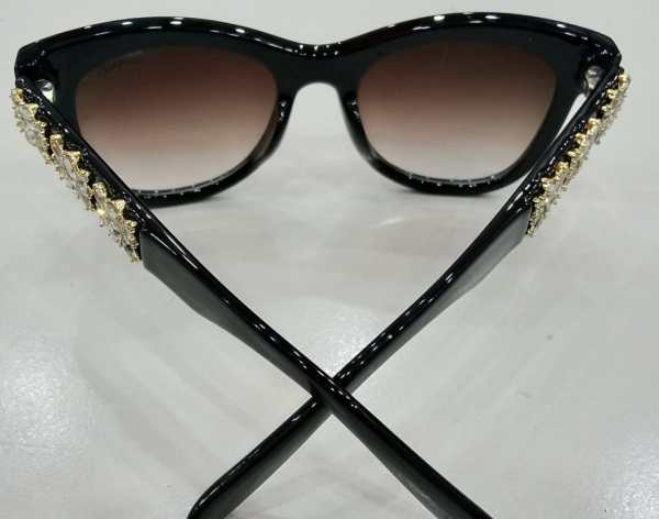 Chanel black XL-205 Maroon shade glasses