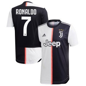 adidas Cristiano Ronaldo Juventus Black 2019/20 Home Authentic Player Jersey
