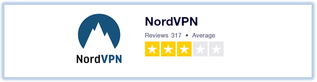 Nordvpn-3-star-review-on-trustpilot