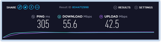 speed-test-ExpressVPN-Hong kong-server