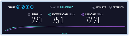 speed-test-ExpressVPN-U.K-server