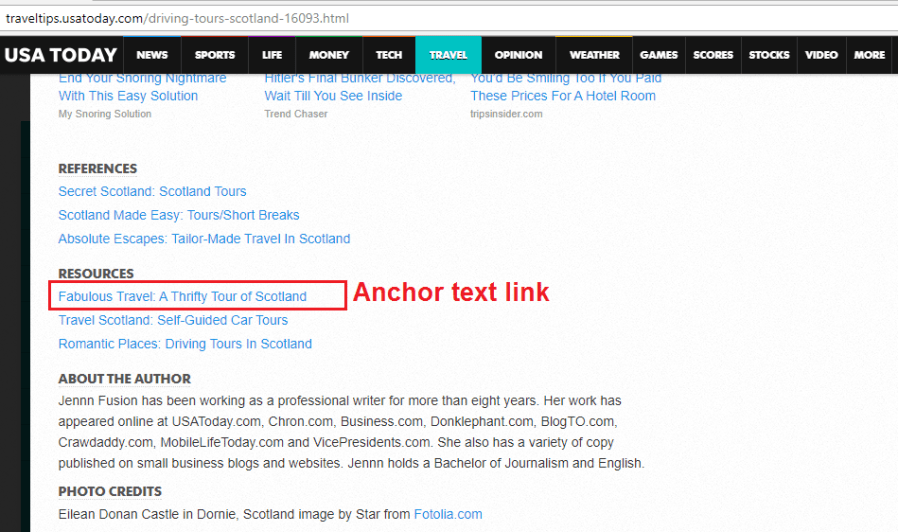 Backlink source page