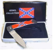 rebel flag knife
