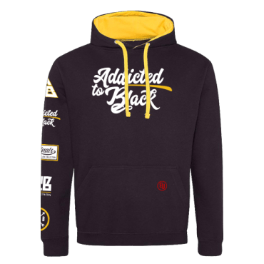 Addicted To Black Patchwork hoodie Kings