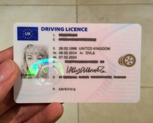 real uk driving licence