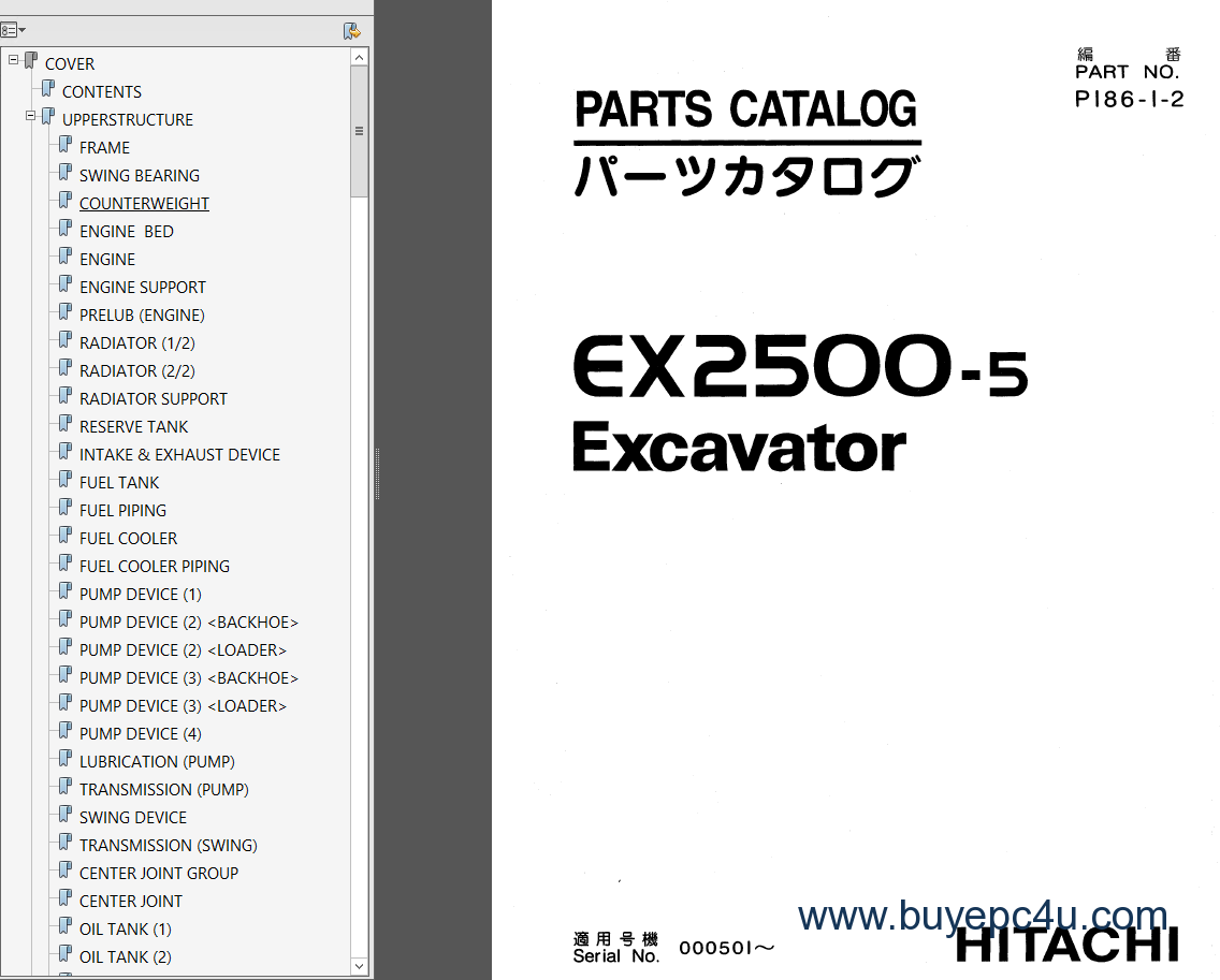 Hitachi Ex 5 Service Technical Workshop Manuals