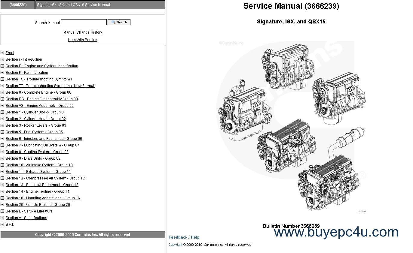 Cummins Engine Signature Isx Qsx15 Service Manual