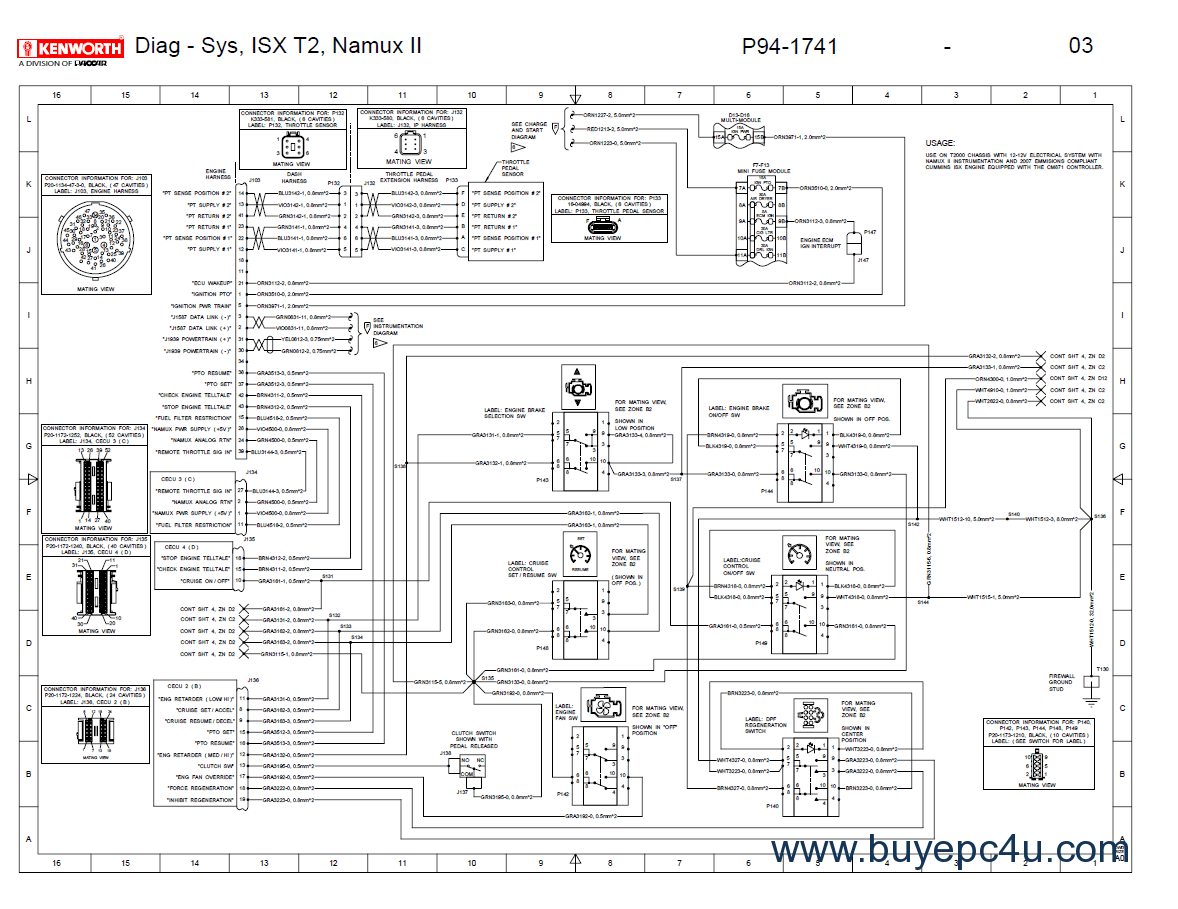 kenworth t2000 wiring electrical schematics manual pdf?resize\=665%2C513\&ssl\=1 kenworth t800 wiring schematic kenworth wiring diagrams collection  at gsmx.co