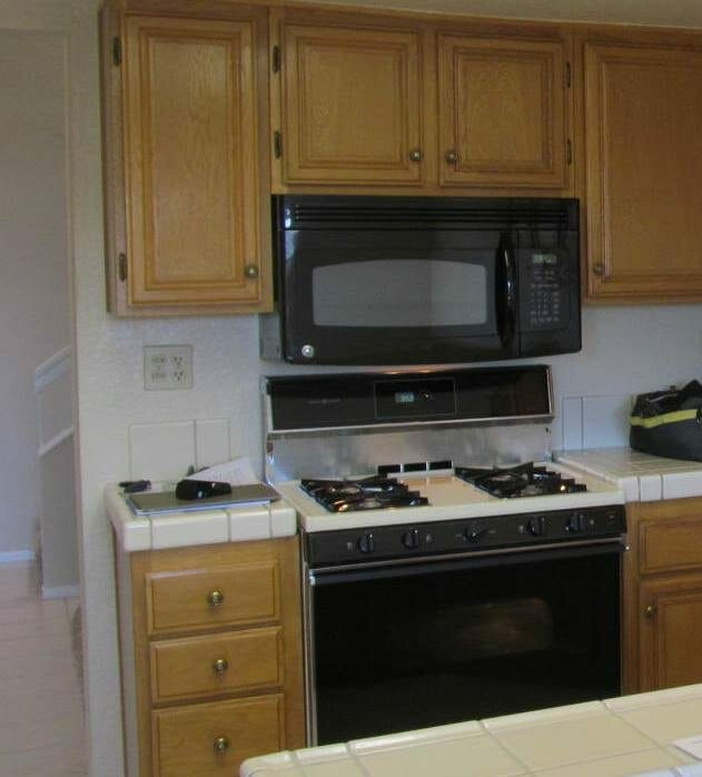 stove top clearance to microwave bottom