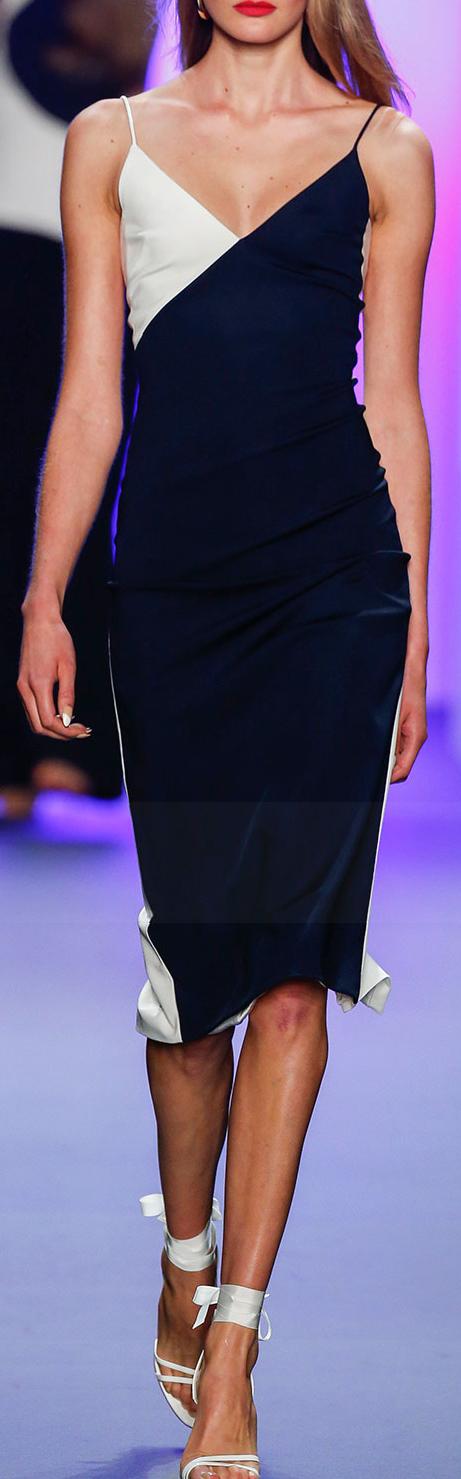 Cushnie Et Ochs Colorblock Sleeveless Dress