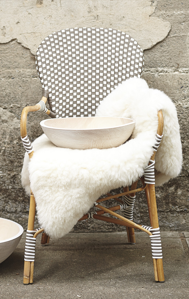 Riviera Chair & Sheepskin Throw