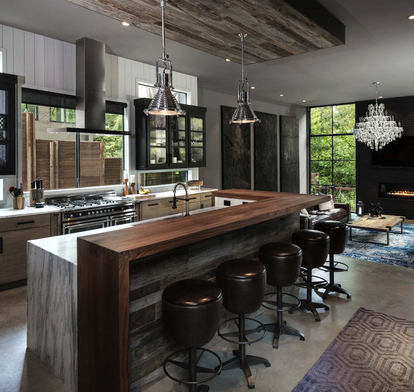 Urban Contemporary Kitchen with an Industrial Twist