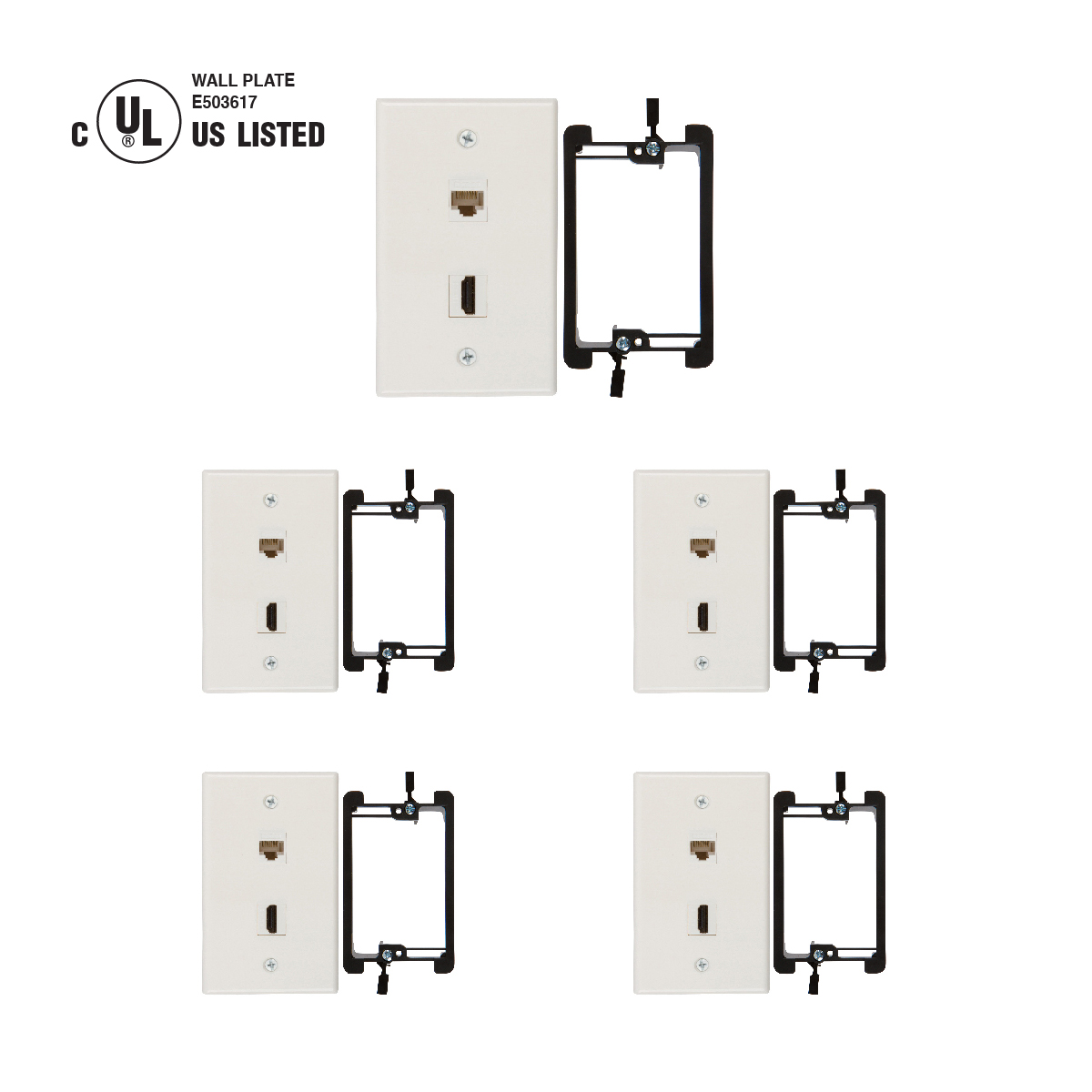 Purchase Wall Plates For Hdmi And Cat6 Ethernet Cables