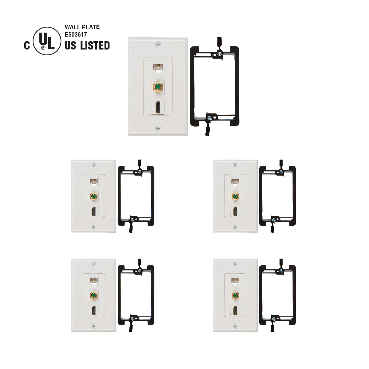 Shop Hdmi Coax Ethernet Wall Plates In White