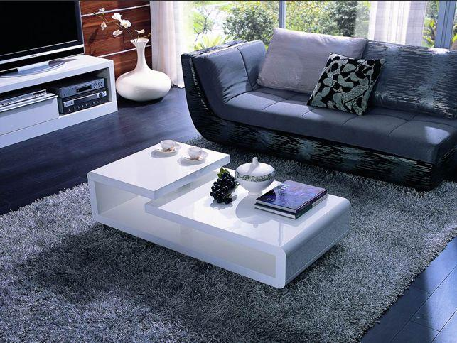 modrest 5011c modern white lacquer coffee table