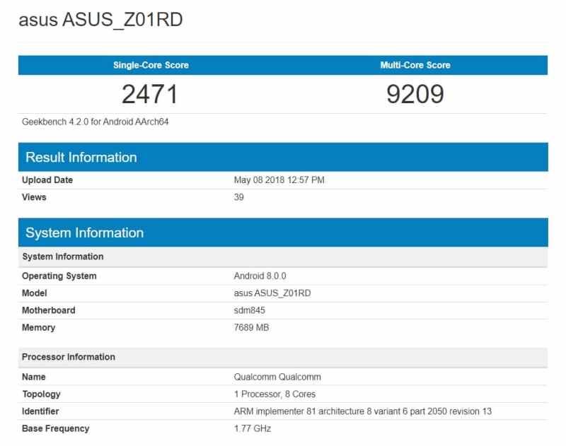 ASUS Zenfone 5z Overtakes OnePlus 6