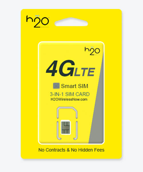 image of h2o 3-in-1 smart sim card