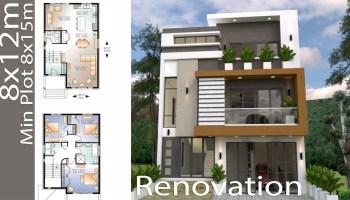 Sketchup Home Design Plan 10x13m With 3 Bedrooms Samphoas Com