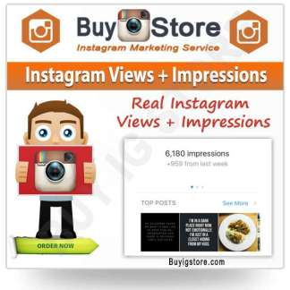 Instagram Views + Impressions
