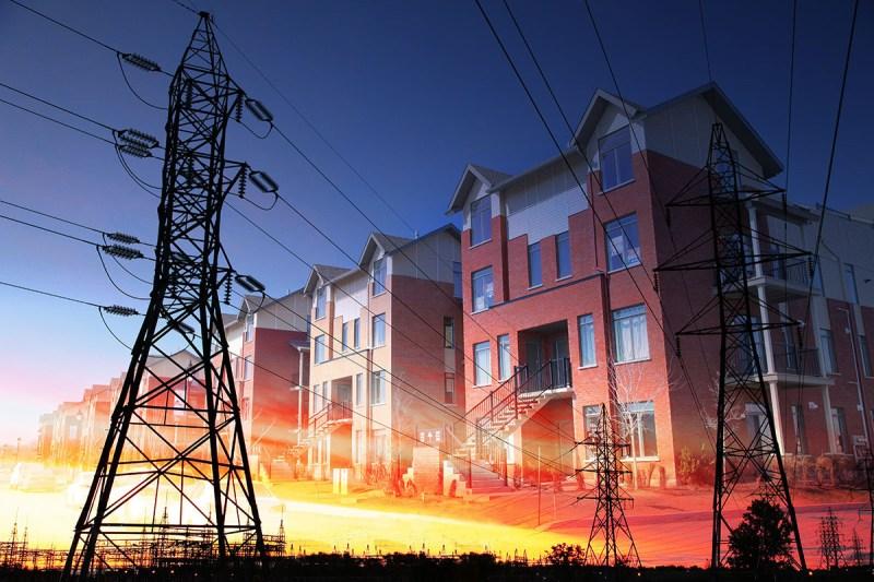 Domestic Energy Lines Photo Montage