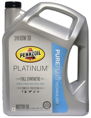 SAE 10W-30 Pennzoil Platinum - synthetic motor oils