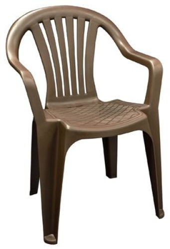 ADAMS MFG 8234-60- 3704 Low Back Chair, Brown - Plastic Chairs