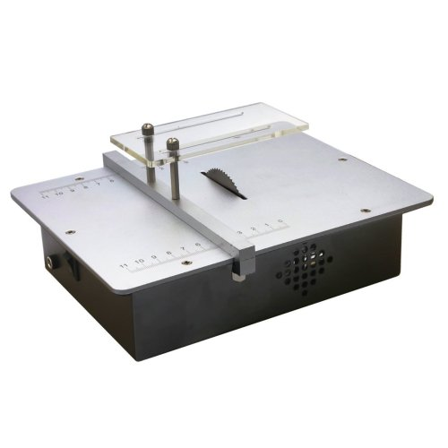 AMPSEVEN Micro Mini Table Saws Pcb Acrylic Cutting Machine Simple Metal Model Sawing Woodworking Saw - Mini Table Saws