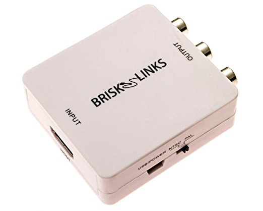 Brisk Links HDMI to RCA Composite-HDMI to RCA Converters