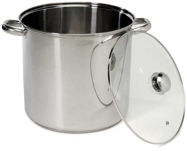 Excelsteel 16 Quart Stainless Steel Stockpot With Encapsulated Base - Stainless Steel Pot
